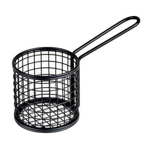 Service Basket - Round Black 84x80x180mm MODA