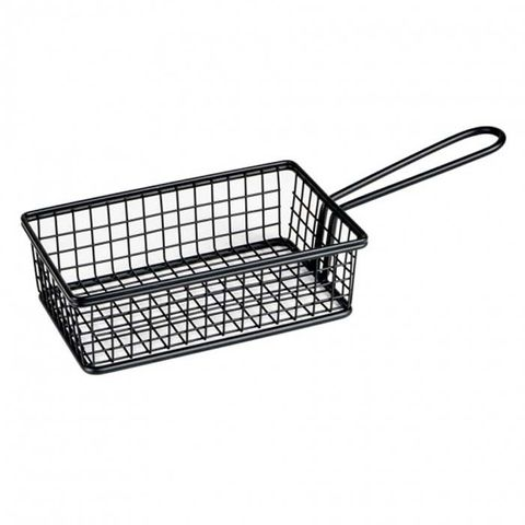 Service Basket - Rectangle Black 160x104x50mm MODA