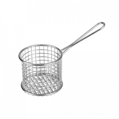 Service Basket - Round S/S 190x93x128mm ATHENA