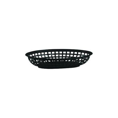 PP Oval Bread Basket 240x150x50mm Black