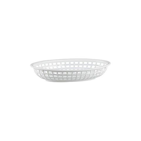 PP Oval Bread Basket 240x150x50mm White