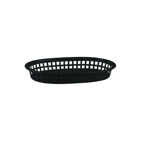 PP Rectangular Bread Basket 240x150x50mm Black
