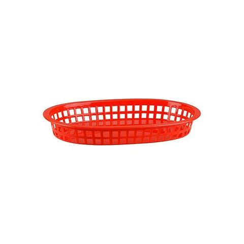 PP Rectangular Bread Basket 240x150x50mm Red
