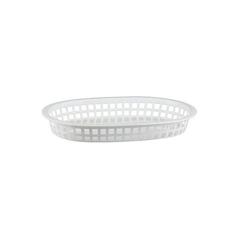 PP Rectangular Bread Basket 240x150x50mm White