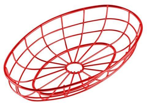 Wire Diner Basket 24x15x4cm Red