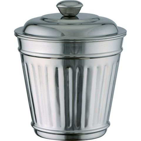 Miniatures Trash Can Ribbed 18/8 90x120mm