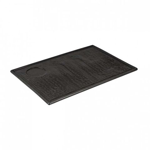 Tate Rectangular Plate with Well 330x240mm Charcoal LUZERNE