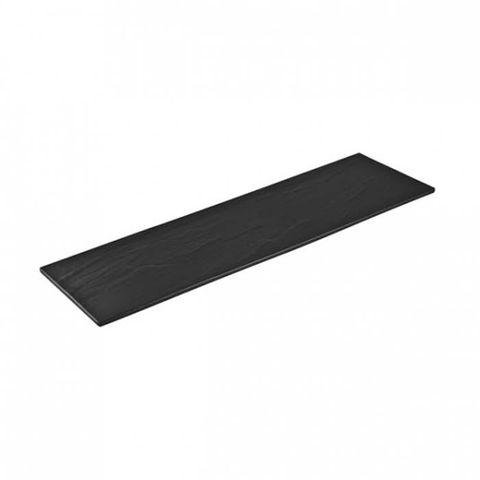 Melamine Rectangular Taroko Platter 525x160mm Black RYNER