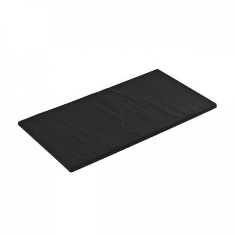 Melamine Rectangular Taroko Platter 325x175mm Black RYNER