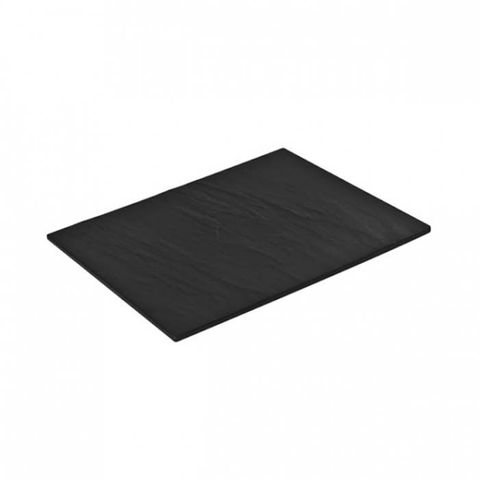 Melamine Rectangular Taroko Platter 325x260mm Black RYNER