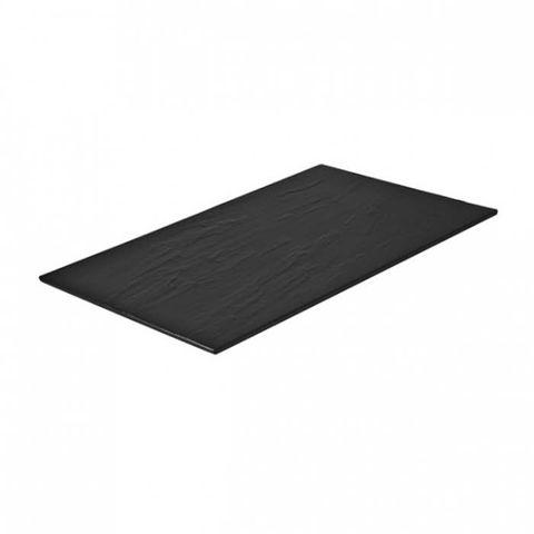 Melamine Rectangular Taroko Platter 530x325mm Black RYNER