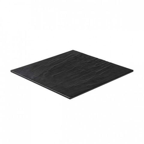 Melamine Square Taroko Platter 368x368mm Black RYNER