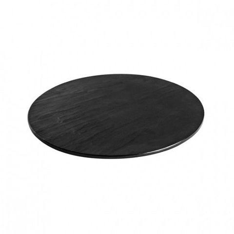 Melamine Round Taroko Platter 430mm Black RYNER