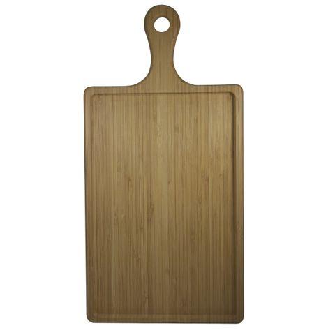 Bamboo Serving Board Rectanglar w/HDL 400x200mm