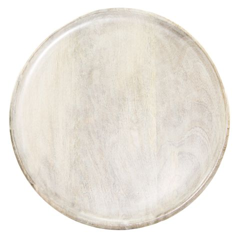 Mangowood Serving Board Round 300x15mm White