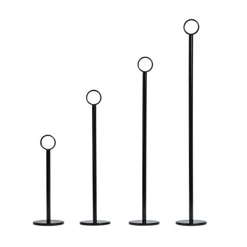 Table Number Stand 300mm Black Base 70mm