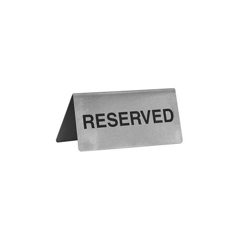 Reserve Sign 18/8 43mmx100mm