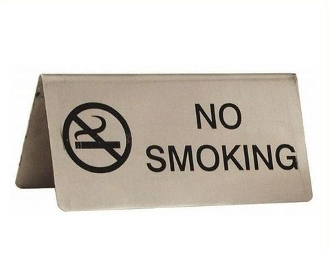 No Smoking Sign 18/8 43mmx100mm