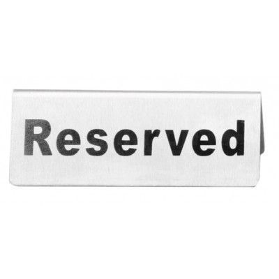Reserve Sign S/S 120x45x40mm