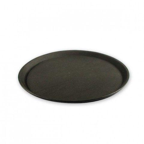 Non-Slip Round Tray - Black 400mm/16inch