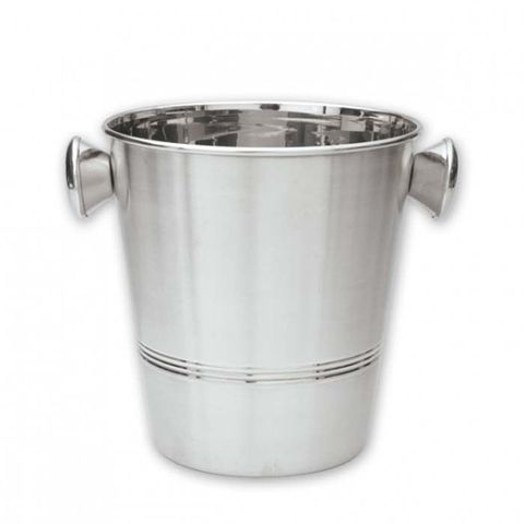 Wine Bucket w/Knobs 18/8 200x205mm Satin Finish