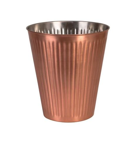 MODA Brookyln Wine Bucket Ribbed Copper