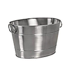 Moda Brookyln Beverage Tub - Stainless Steel Oval
