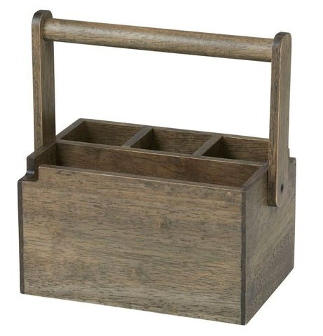 Rubber Wood Caddy 20.5x14x12cm