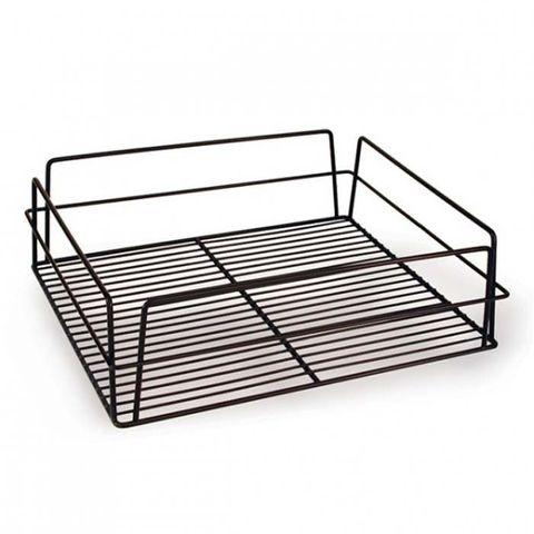 Glass Basket (Black) - Rectangular 435x355x125mm