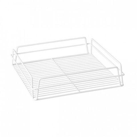 Glass Basket (White) - Square 355x355x75mm