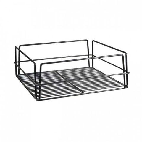 Glass Basket (Black) - Square High Sided 355x355mm