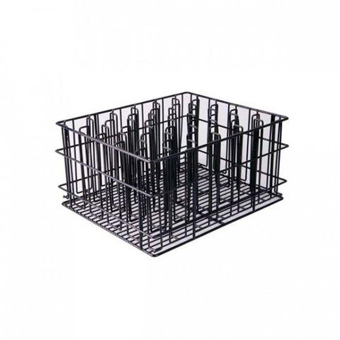 30 Compartment Glass Basket (Black) - 430x355x215mm