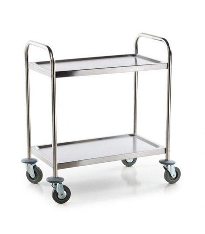 Medium Stainless Steel 2 Shelf Utility Trolley 810×460×850mm
