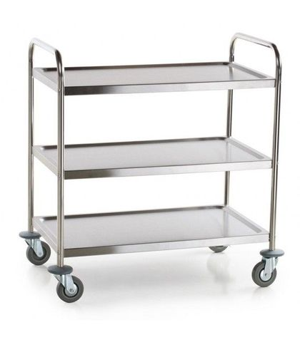 Large Stainless Steel 3 Shelf Utility Trolley 860×540×940mm