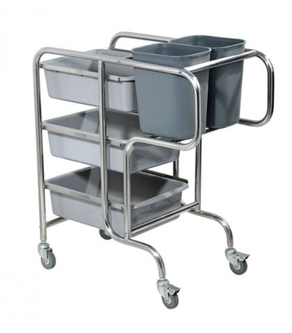 Dish Cleanup Trolley - 850×440×930mm