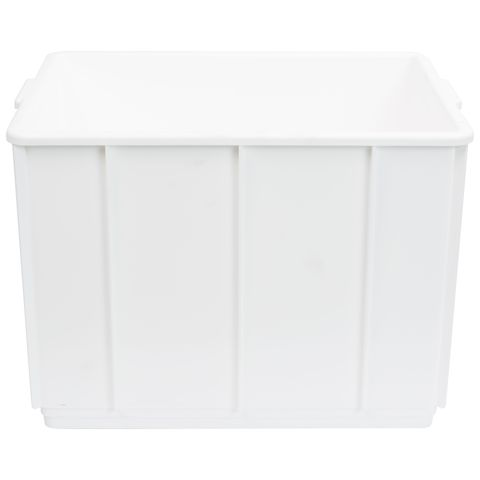 Nally 32L Stackable Plastic Tote Box In White