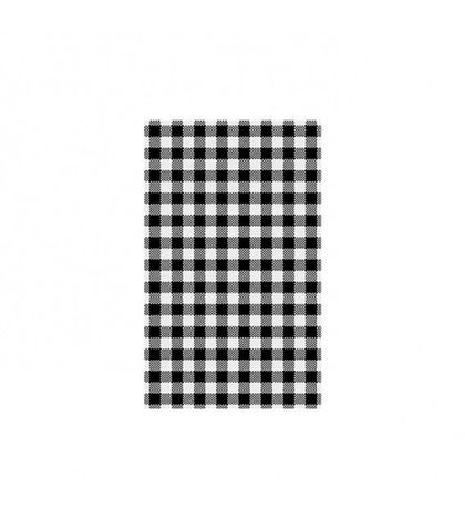 Black Gingham Greaseproof Paper 190x310mm MODA