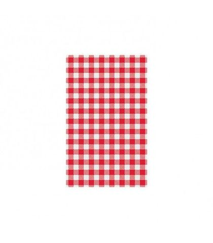 Red Gingham Greaseproof Paper 190x310mm MODA