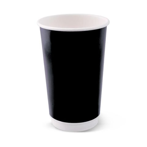 Detpak Combo Smooth Double Wall Hot Cups 16oz Black