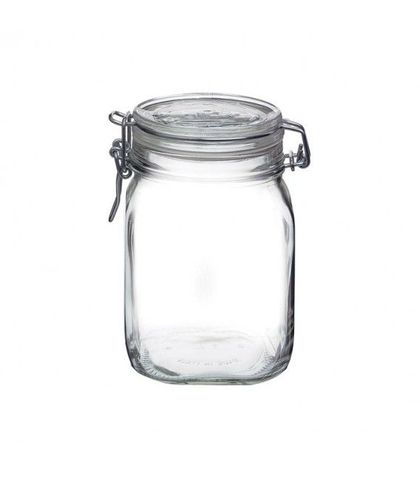 Fido Jar with Clear Lid - 1.11lt Bormioli Rocco
