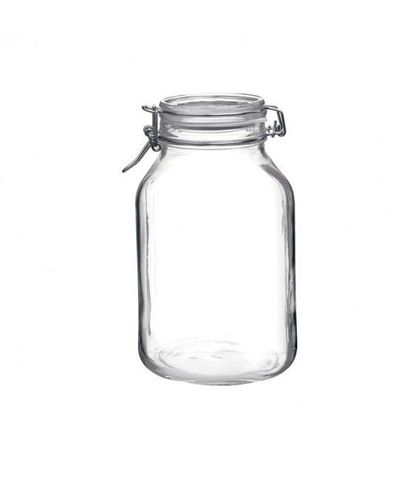 Fido Jar with Clear Lid - 3.04lt Bormioli Rocco