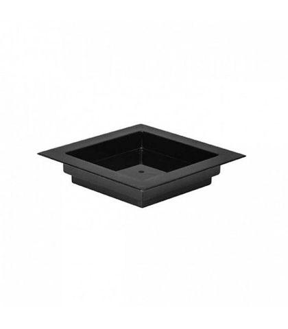 MINI SQUARE DISH-BLACK,70x70mm100pcs / PACK