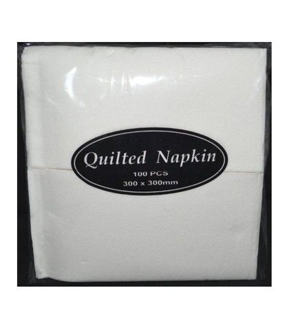 Culinaire Quilted White Luncheon Napkin GT Fold 30X30cm