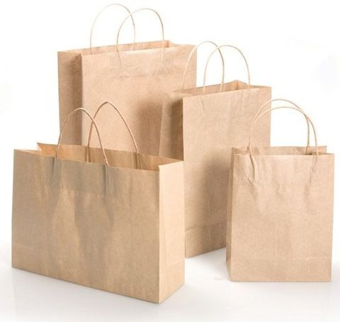 Kraft Paper Bag Bag 120gsm - 200x100x290mm - 50/Pack