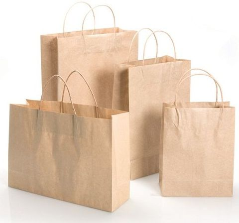 Kraft Paper Bag 120gsm - 260x100x350mm - 50/Pack
