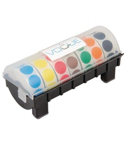 25mm Coloured Dot Label Kit with Dispenser