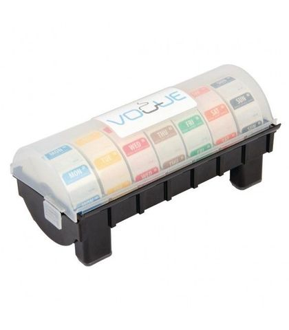 Dissolvable 25mm Day of The Week Label Kit with Dispenser