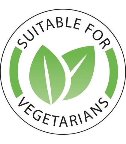Vegetarian Label 25mm (roll of 1000)