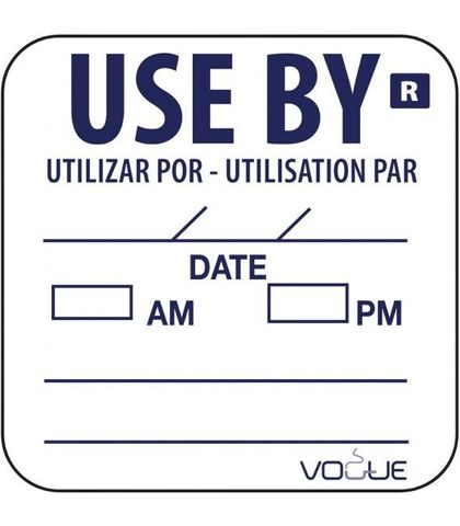 Use By Label 25mm (roll of 1000)