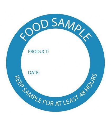Food Sample Label 50mm (roll of 500)